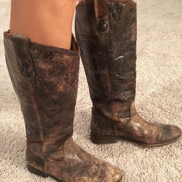 Frye Melissa Distressed Brown Leather